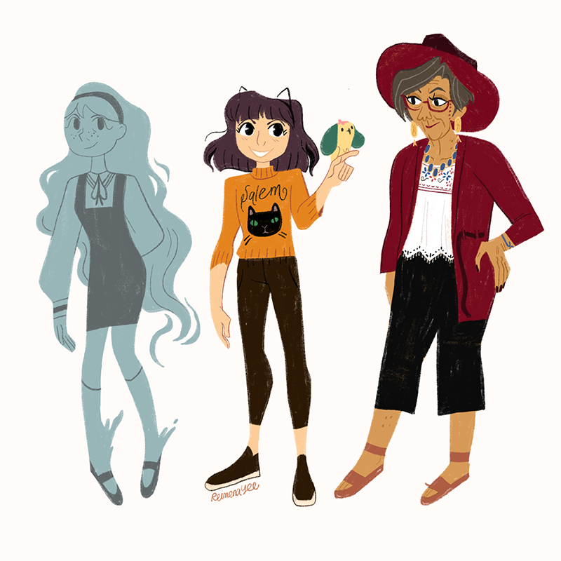 Character designs of the main characters